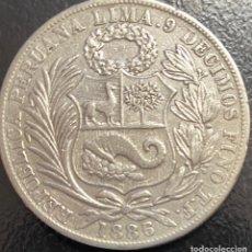 Monedas antiguas de América: PERÚ, MONEDA DE PLATA DE 1 SOL, AÑO 1886TF. Lote 293368653
