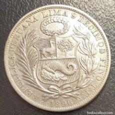 Monete antiche di America: PERÚ, MONEDA DE PLATA DE 1 SOL, AÑO 1896TF. Lote 293414608