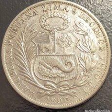 Monete antiche di America: PERÚ, MONEDA DE PLATA DE 1 SOL, AÑO 1897JF. Lote 293415078
