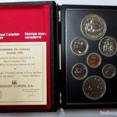 Monedas antiguas de América: CANADA 1979. SERIE PRETIGE. CONJUNTO DE SIETE MONEDAS UNA DE ELLAS DE PLATA. LOTE 3905. Lote 293453413