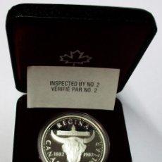 Monedas antiguas de América: CANADÁ 1982. 1 DOLLAR DE PLATA. CENTENARIO DE LA CIUDAD DE REGINA. LOTE 3907. Lote 293457413