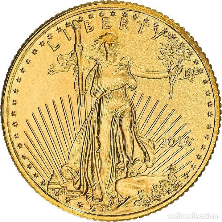 [#898504] MONEDA, ESTADOS UNIDOS, AMERICAN EAGLE, 5 DOLLARS, 2016, 1/10 OZ, FDC, ORO (Numismática - Extranjeras - América)