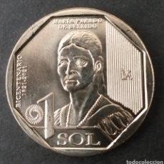 Monedas antiguas de América: MONEDA SC 1 SOL PERU AÑO 2020. Lote 293596698