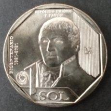 Monedas antiguas de América: MONEDA SC 1 SOL PERU AÑO 2020. Lote 293596808