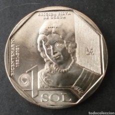 Monedas antiguas de América: MONEDA SC 1 SOL PERU AÑO 2020. Lote 293597043