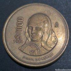 Monedas antiguas de América: MONEDA 1000 PESOS MÉXICO AÑO 1988. Lote 294495383
