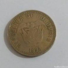Monedas antiguas de América: ~ MONEDA DORADA 100 PESOS COLOMBIA 1994 ~. Lote 294551648