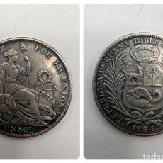 Monedas antiguas de América: MONEDA. PERU. PLATA. 1 SOL. 1894. PLATA. EBC. VER FOTOS. Lote 294822803
