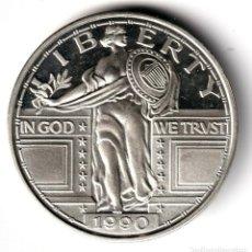 Monedas antiguas de América: USA 2 ONZAS PLATA PURA 1990 LIBERTY - IN GOD WE TRUST - EN DIOS CONFIAMOS. Lote 295292333