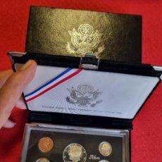 Monedas antiguas de América: SET ESTUCHE MONEDAS PLATA USA ESTADOS UNIDOS 1992 PROOF 5 MONEDAS CON CAJA ORIGINAL. Lote 295331228