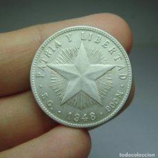 Monedas antiguas de América: 20 CENTAVOS. PLATA. REPÚBLICA DE CUBA - 1948. Lote 295496183