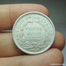 Monedas antiguas de América: 20 CENTAVOS. PLATA. REPÚBLICA DE BOLIVIA- 1888. Lote 295498403