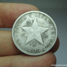 Monedas antiguas de América: 20 CENTAVOS. PLATA. REPÚBLICA DE CUBA - 1915. Lote 295500323