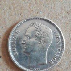 Monedas antiguas de América: ANTIGUA MONEDA 50 CÉNTIMOS VENEZUELA 1954 PLATA. Lote 295500853