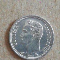 Monedas antiguas de América: ANTIGUA MONEDA 25 CÉNTIMOS VENEZUELA 1960 PLATA. Lote 295501803
