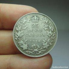 Monedas antiguas de América: 25 CÉNTIMOS. PLATA. CANADÁ - 1916. Lote 295506733