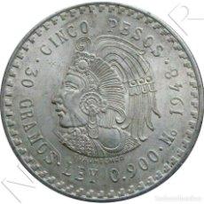 Monedas antiguas de América: MEXICO 5 PESOS 1953 AZTEC CHIEFTAIN CUAUHTEMOC 30G PLATA (.900) KM# 465. Lote 295510823