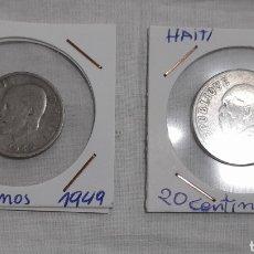 Monedas antiguas de América: MONEDAS HAITÍ, 1907 Y 1949. VER FOTOGRAFÍAS Y DESCRIPCIÓN. Lote 295518008
