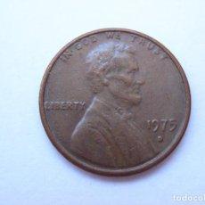 Monedas antiguas de América: MONEDA ESTADOS UNIDOS 1 CENTAVO 1975 D. Lote 295524163