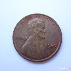 Monedas antiguas de América: MONEDA ESTADOS UNIDOS 1 CENTAVO 1980. Lote 295524828