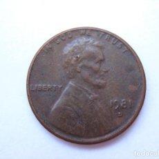 Monedas antiguas de América: MONEDA ESTADOS UNIDOS 1 CENTAVO 1981 D. Lote 295524963