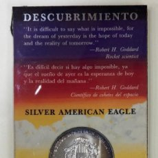 Monedas antiguas de América: OFERTA ONZA DE PLATA EEUU EXPOSICION 1992 SEVILLA EN CARTERA. Lote 295735988