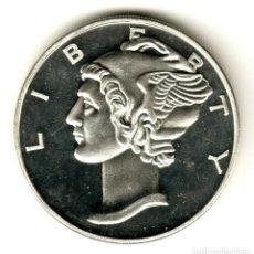 Monedas antiguas de América: USA 2 ONZAS PLATA PURA MERCURY - LIBERTY - SERIE MONEDAS AMERICANAS. Lote 295896133