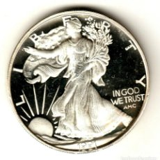 Monedas antiguas de América: USA 2 ONZAS PLATA PURA 1991 AMERICAN SILVER EAGLE - SERIE MONEDAS AMERICANAS. Lote 295897123