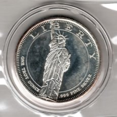 Monedas antiguas de América: USA 1 ONZA TROY PLATA PURA ESTATUA DE LA LIBERTAD - LIBERTY. Lote 295897783