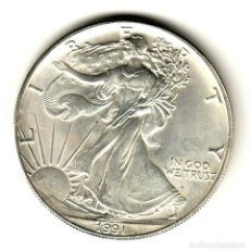 Monedas antiguas de América: USA: 1 DOLAR PLATA 1991 - 1 OZ AMERICAN SILVER EAGLE COIN (BU) DOLLAR SILVER. Lote 295901098