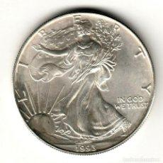 Monedas antiguas de América: USA: 1 DOLAR PLATA 1993 - 1 OZ AMERICAN SILVER EAGLE COIN (BU) DOLLAR SILVER. Lote 295903203