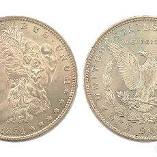 Monedas antiguas de América: ESTADOS UNIDOS DOLAR 1884, RESTOS DE BRILLO ORIGINAL, EBC+, PLATA. Lote 295917383