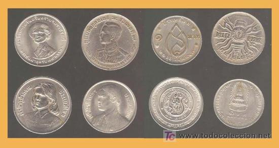 Tailandia 4 Monedas 1 Y 2 Baht Comprar Monedas Antiguas De Asia