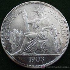 Monedas antiguas de Asia: INDOCHINA FRANCESA - 1 PIASTRA 1903 - PLATA.. Lote 26789988