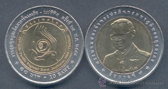Tailandia 10 Baht 2005 Jamboree Scout Comprar Monedas Antiguas De