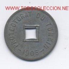 Monedas antiguas de Asia: 98- TONKIN- 1/600 PIASTRA- 1905. Lote 2336167