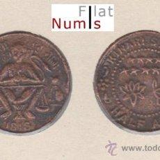 Monete antiche di Asia: INDIA-RAJASTHAN - 1/2 ANNA -1818 - DIOS HANUMAN - E.B.C. - COBRE. Lote 26788051