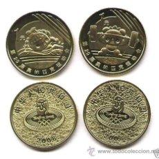 Monedas antiguas de Asia: CHINA 2008 2 MONEDAS CONMEMORATIVAS 1 YUAN. Lote 62583696