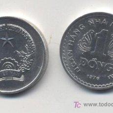 Monedas antiguas de Asia: VIETNAM 1 DONG 1976 KM#14 SC. Lote 51980237