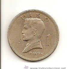 Monedas antiguas de Asia: MUY ESCASA MONEDA DE LA REPUBLICA DE FILIPINAS - BANCO CENTRAL 1972 (NIQUEL) 1 PESO, JOSE RIZAL. MBC. Lote 214083861