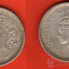 Moedas antigas da Ásia: INDIA BRITANICA 1 RUPIA 1943, PLATA. Lote 22264820