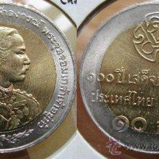 Monedas antiguas de Asia: TAILANDIA THAILANDIA - 10 BAHT 1997 - CHULALONGKORN VIAJE REY - BIMETALICA. Lote 25977955