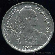 Monedas antiguas de Asia: INDOCHINA FRANCESA : 1 PIASTRA 1947. Lote 26701062