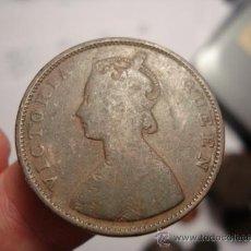Monedas antiguas de Asia: 87 INDIA MONEDA DE HALF ANNA AÑO 1862 OCASION !! A DIARIO MONEDAS A PRECIOS BAJOS. Lote 28157001