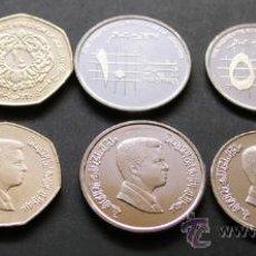 Monedas antiguas de Asia: SERIE JORDANIA JORDAN(1 QIRSH 5,10 PIASTRAS 1/4 Y 1/2 DINAR) SC. Lote 183895172