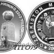 Monedas antiguas de Asia: UZBEKISTAN 100 SOM 2009 2200 ANIV. TASHKENT. Lote 191077743