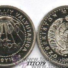 Monedas antiguas de Asia: UZBEKISTAN 100 SOM 2004 10º ANIV MONEDA ( RARA ) MEJOR PRECIO GARANTIZADO. Lote 191077867