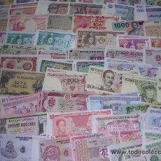 Monedas antiguas de Asia: LOTE DE 10 BILLETES VARIADOS DEL MUNDO. Lote 125366960