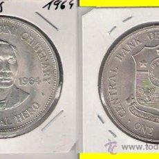 Monedas antiguas de Asia: UN PESO DE FILIPINAS DE 1964. PLATA. EBC+ CENTENARIO DEL NACIMIENTO DE APOLINARIO MABINI. (ME197).. Lote 32092244