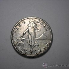 Monedas antiguas de Asia: 1 PESO DE PLATA DE 1909. ISLAS FILIPINAS , BAJO DOMINIO USA. Lote 33559802